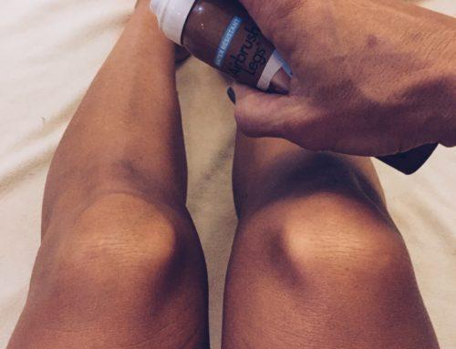 Glow Spray voor een beetje kleur op de benen!