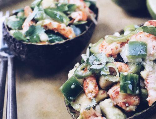 Recept! Avocado gevuld met rivierkreeftjes